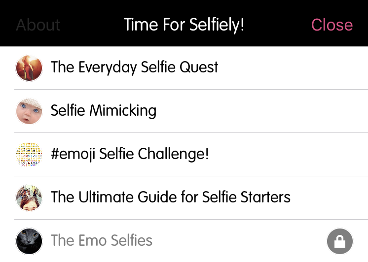 [NEW FEATURES] Topic List View on Selfiely
