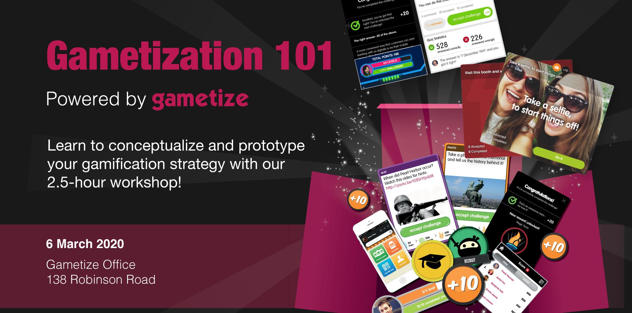 [EVENT] Gametization 101 Workshop (March)