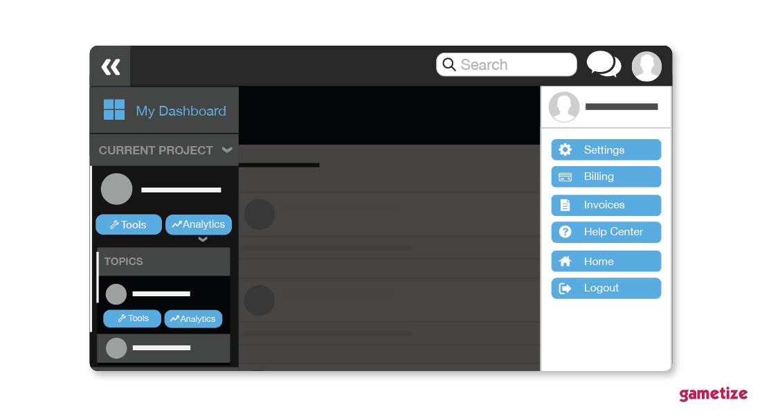 Admin Dashboard: new look to the sidebar