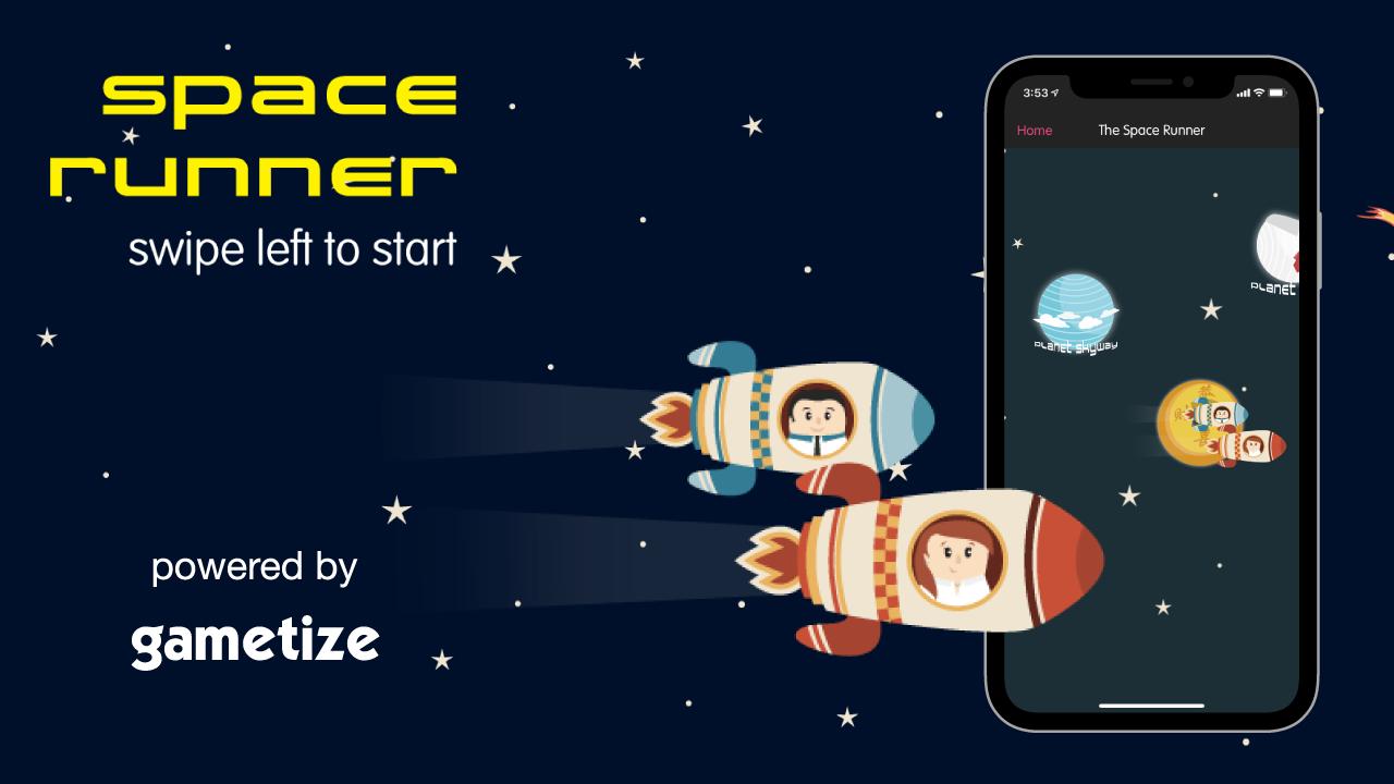 YouTube Thumbnail Space Runner